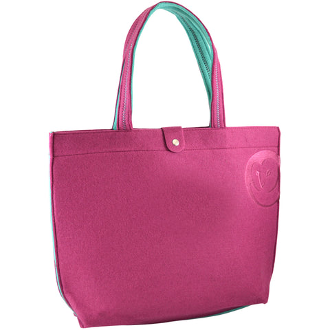 Felt Tote Bag - Berry - 100% Recycled Water Bottles