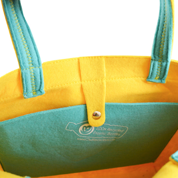 Felt Tote Bag - Dandelion - 100% Recycled Water Bottles