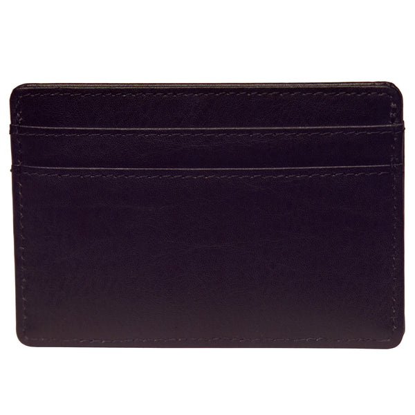 OWL recycled eco leather basic ID card holder, black, back