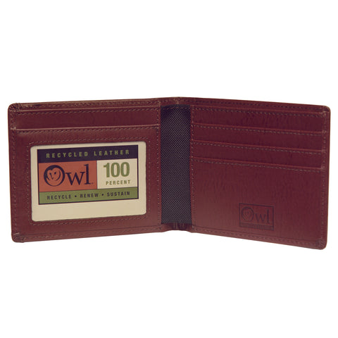 OWLrecycled Billfold - Cocoa