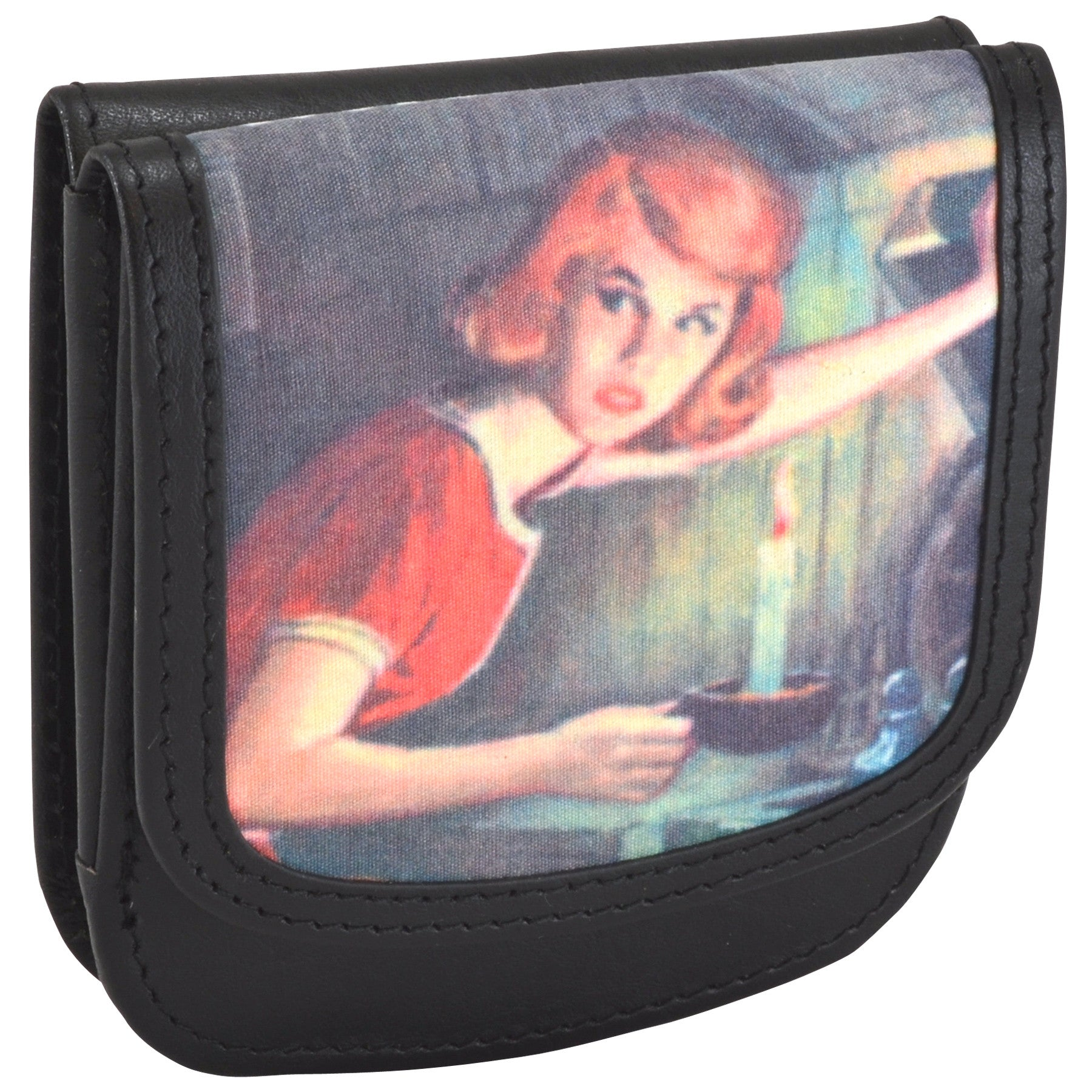 OWL Recycled Nancy Drew Black Taxi Wallet