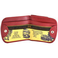 OWL Recycled Nancy Drew Red Taxi Wallet