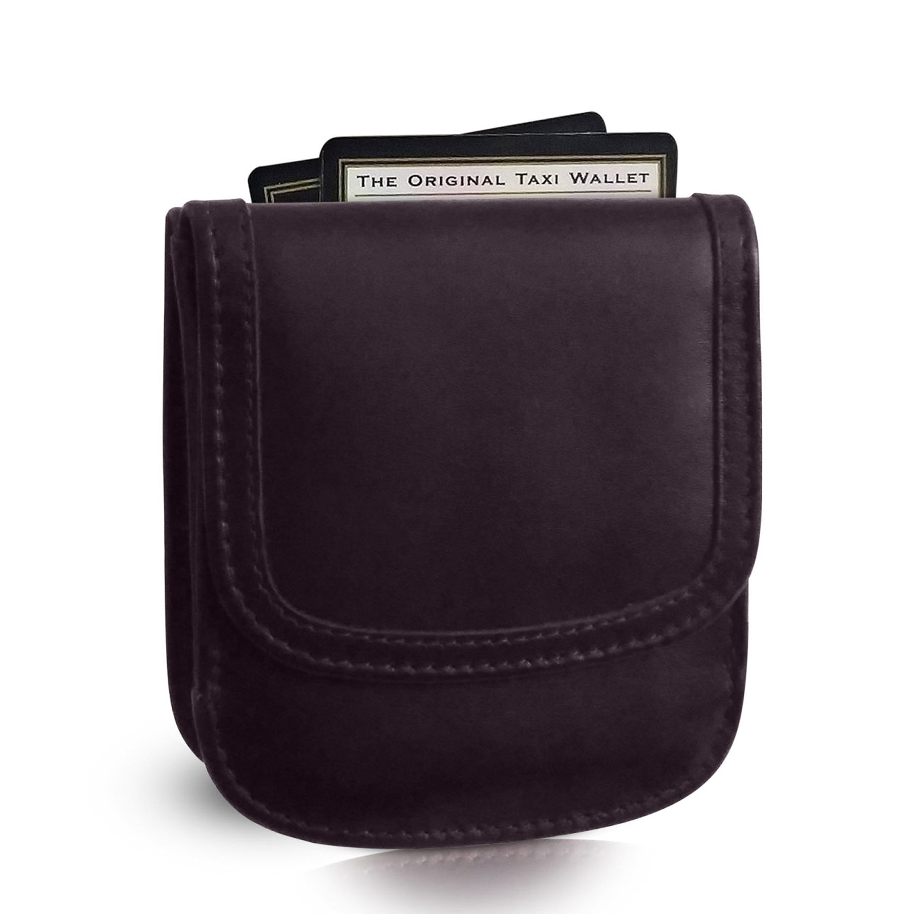 """Black Cherry"" Taxi Wallet.  Italian Leather.  Minimalist.  Folding Wallet for Cards, Coins and Bills."