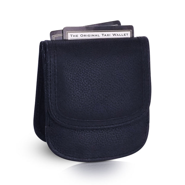"""Black 03"" Taxi Wallet.  Italian Leather.  Minimalist.  Folding Wallet for Cards, Coins and Bills."