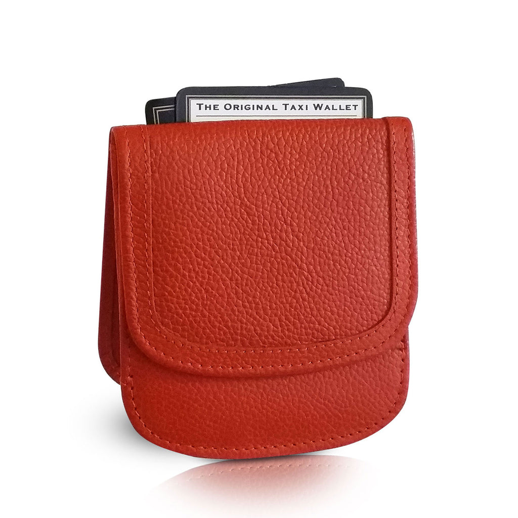 9cc8b228c7b7 Taxi Wallet. Orange Leather Folding Wallet- Coins, Cards and Bills ...