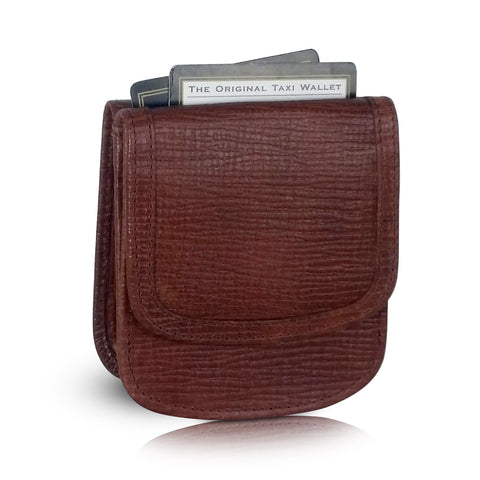 Leather Taxi Wallet - Compact Coin Wallet for Men and Women - Cowboy Tan