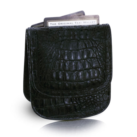 Vintage Croco Taxi Wallet - Black