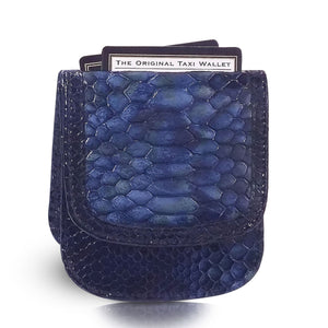 Tonga Snake Taxi Wallet - Sapphire