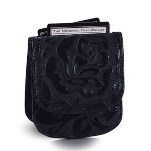 Tooled Print Taxi Wallet - Black