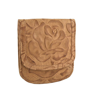 Tooled Print Taxi Wallet - Latte