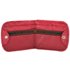 Tooled Print Taxi Wallet - Red