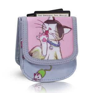 CATS -Vegan Non-Leather. RFID.  Compact Taxi Wallet.