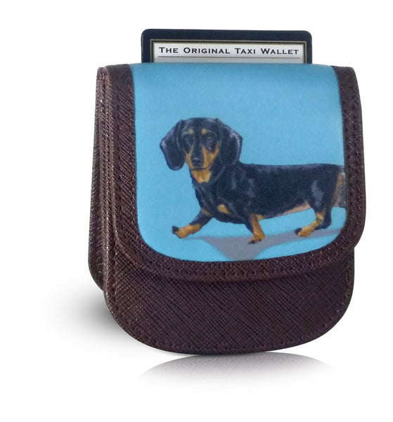 DACHSHUND Small Folding RFID Minimalist Card Wallet by TAXI WALLET® for Men + Women Coin Purse