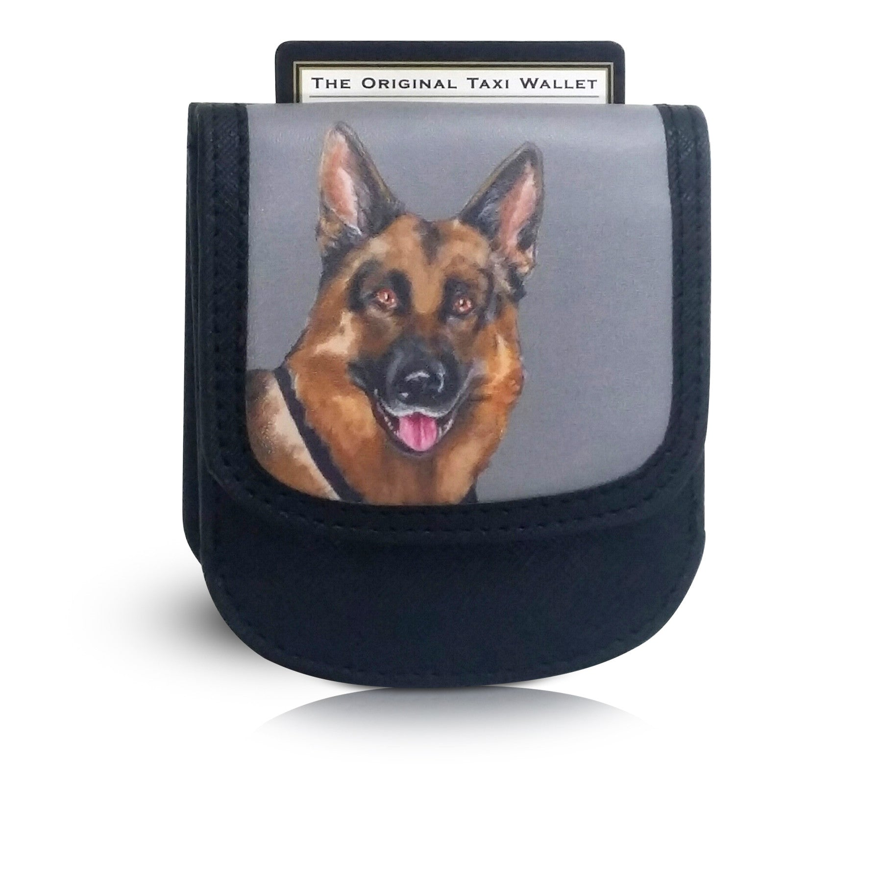 GERMAN SHEPHERD - Vegan Non-Leather. RFID. Compact Taxi Wallet.