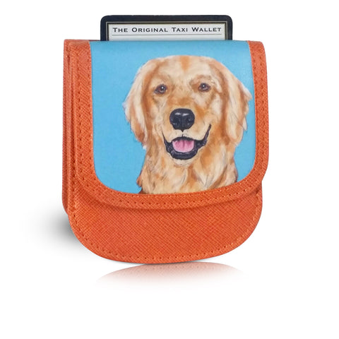 GOLDEN RETRIEVER - Vegan Non-Leather. RFID. Compact Taxi Wallet.