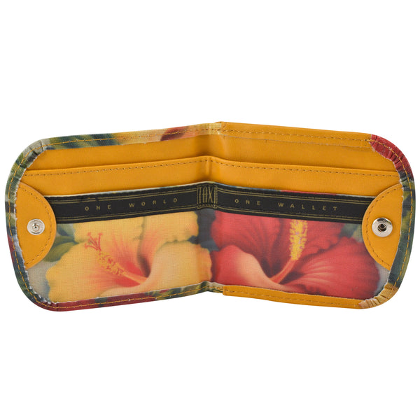 Vegan Taxi Wallet, Hibiscus, interior view
