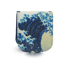 HOKUSAI WAVE - Vegan Non-Leather. Compact Taxi Wallet.