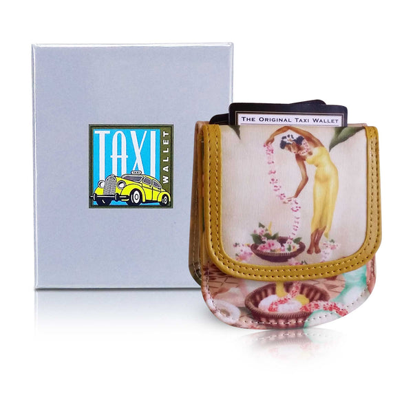 HAWAII ISLAND GIRLS - Small Folding Minimalist Card Wallet for Women Coin Purse by TAXI WALLET®