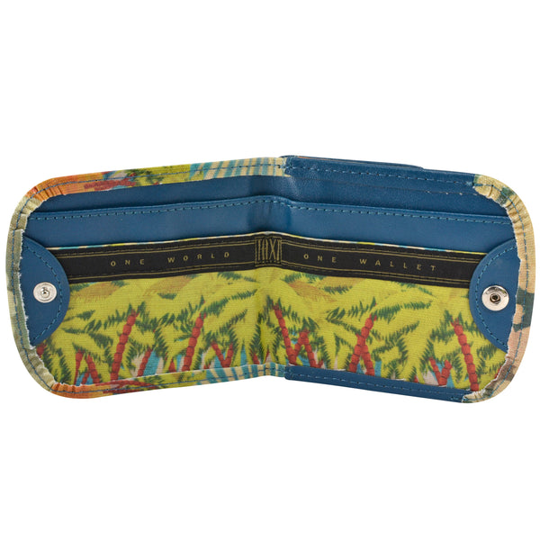 Vegan Taxi Wallet, Island Sun, interior view