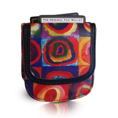 KANDINSKY – Vegan Non-Leather. RFID. Compact coin, bill, card wallet.