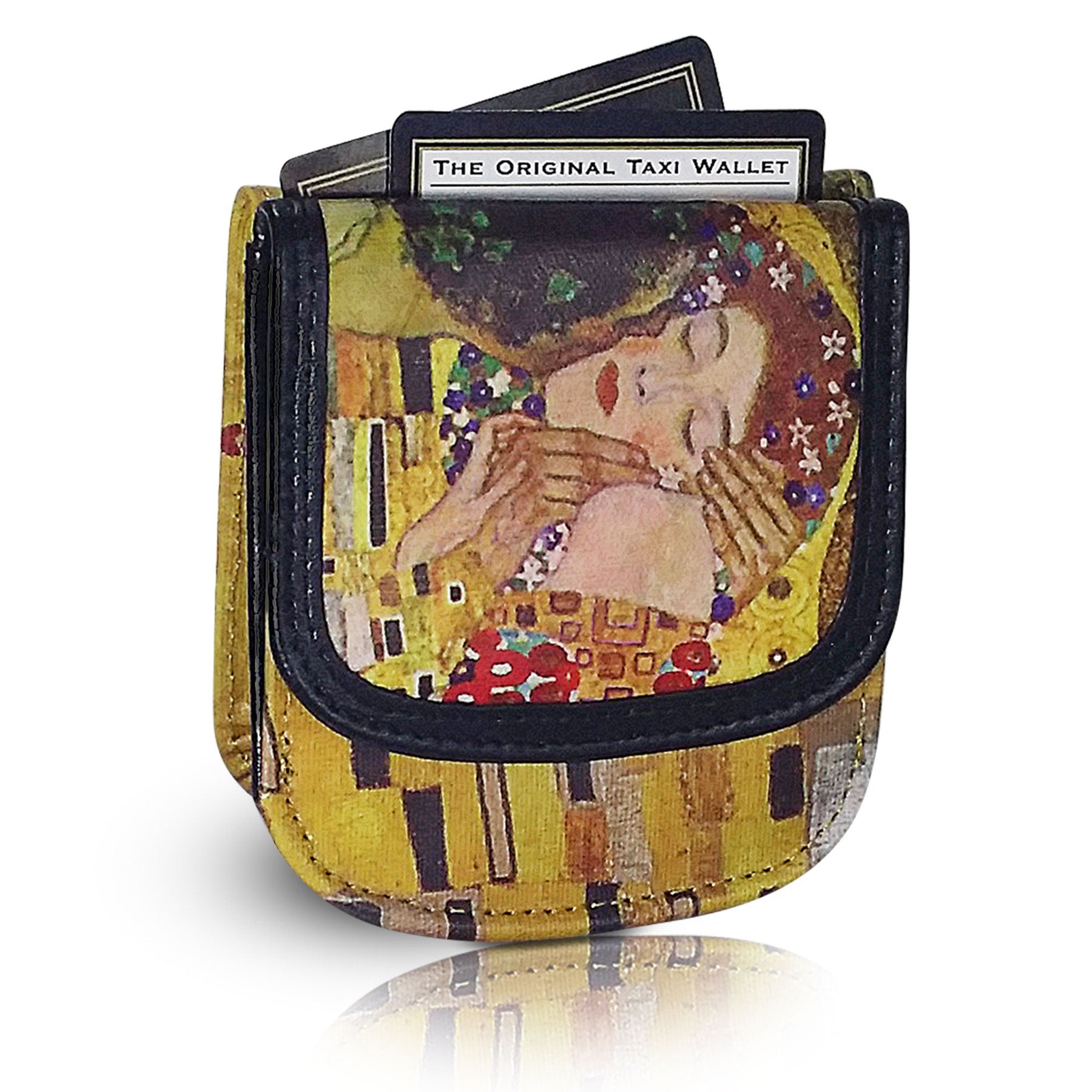 "KLIMT ""KISS"" – Vegan Non-Leather. RFID. Compact coin, bill, card wallet."