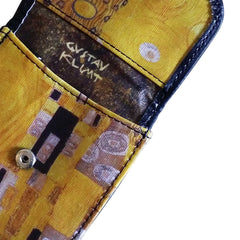"KLIMT ""KISS"" – Vegan Non-Leather. Compact coin, bill, and card wallet."