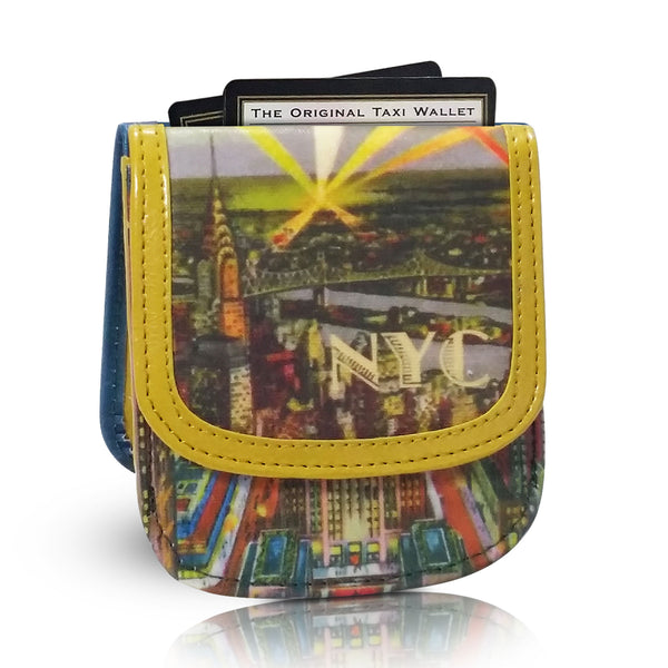 New York By Night Taxi Wallet - Vegan Leather