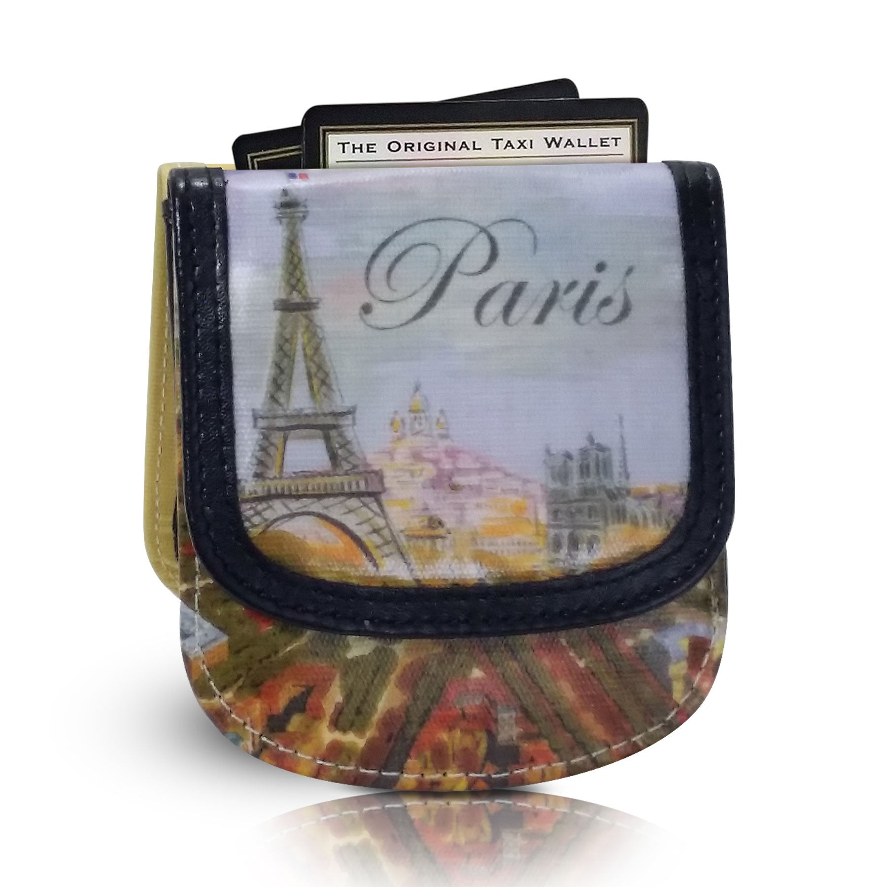 PARIS - Vegan Non-Leather. Compact coin, bill, and card wallet. Taxi Wallet.