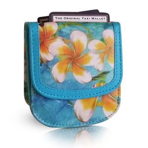 HAWAII PLUMERIA - Small Folding Minimalist Card Wallet for Women Coin Purse by TAXI WALLET®