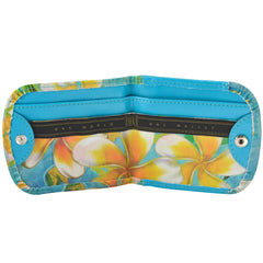 Vegan Taxi Wallet, Plumeria, interior view
