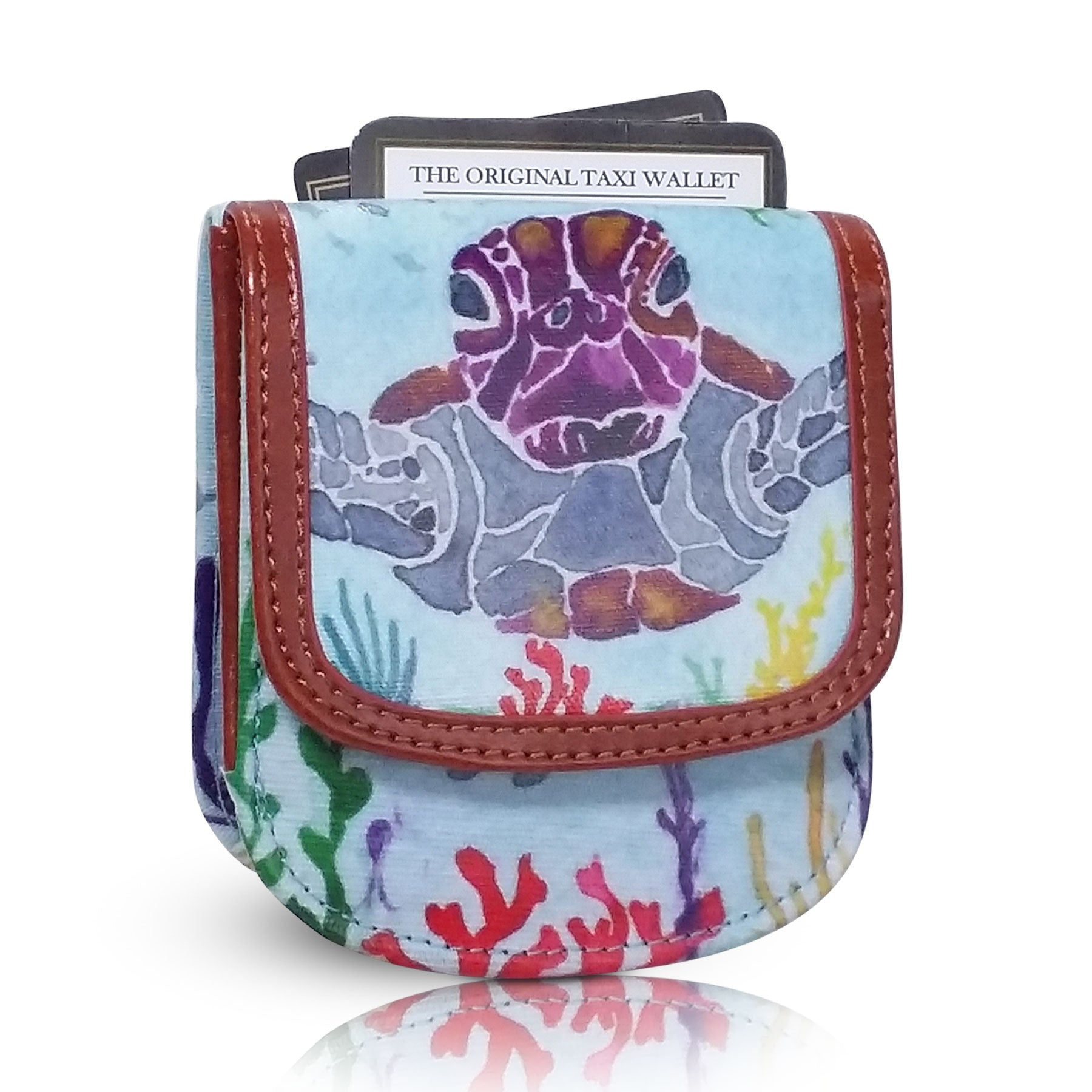 HAWAII SEA TURTLE - Small Folding Minimalist Card Wallet for Women Coin Purse by TAXI WALLET®