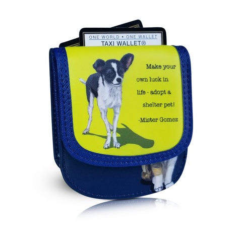 """SHELTER PETS"" - Small Folding RFID Minimalist Card Wallet by TAXI WALLET® for Women or Men"