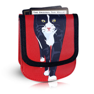 SID THE CAT Small Folding RFID Minimalist Card Wallet by TAXI WALLET® for Women Coin Purse