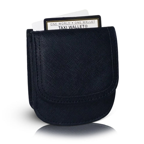 Vegan Leather Taxi Wallet - Compact Coin Wallet for Men and Women - Noir
