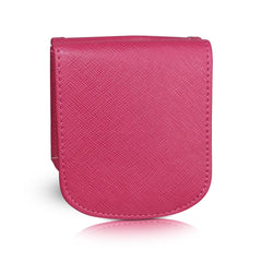Vegan Leather Taxi Wallet - Compact Coin Wallet for Men and Women - Peony Pink