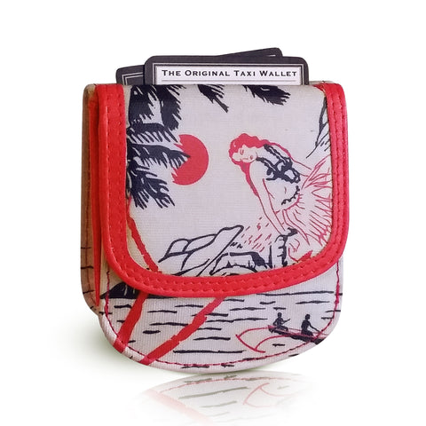 Vegan Taxi Wallet - Hawaiian gifts say Mahalo everyday!  Vintage Hawaii.