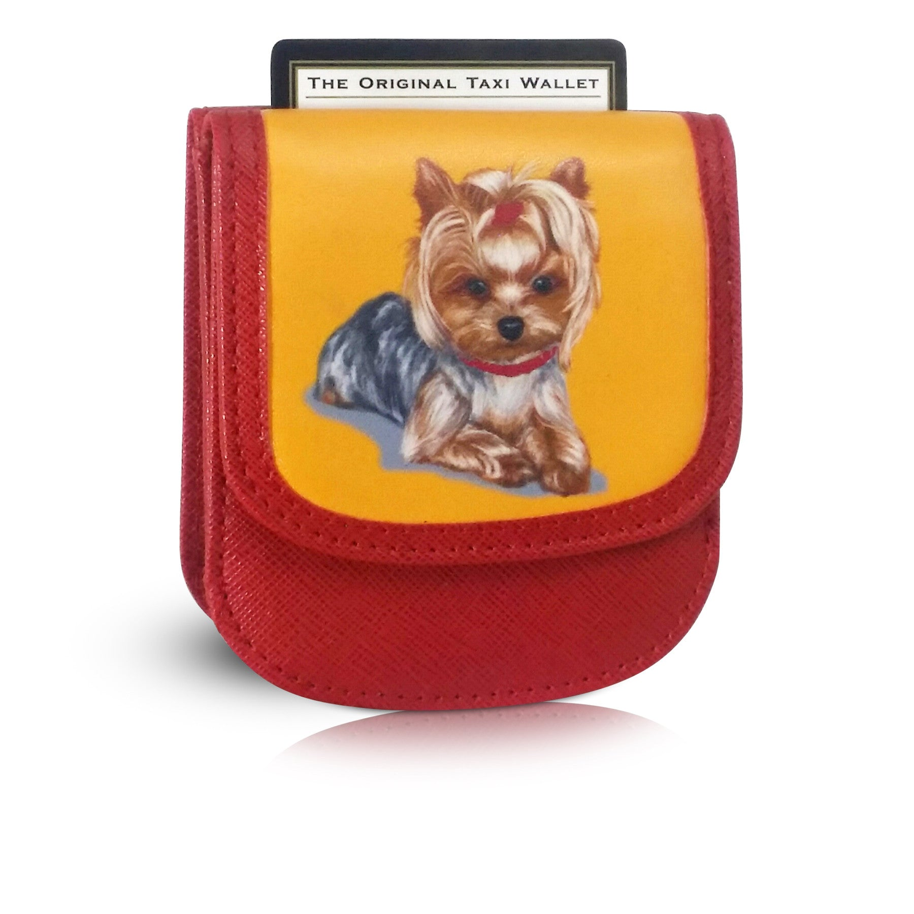 YORKIE Small Folding RFID Vegan Leather Minimalist Card Wallet by TAXI WALLET® for Women Coin Purse