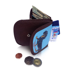 DOXIE - Vegan Non-Leather. RFID. Compact coin, bill, and card wallet.