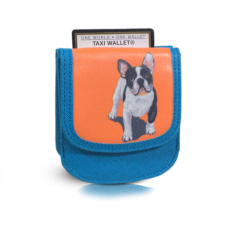 FRENCH BULLDOG Small Folding RFID Minimalist Card Wallet by TAXI WALLET® for Women Coin Purse