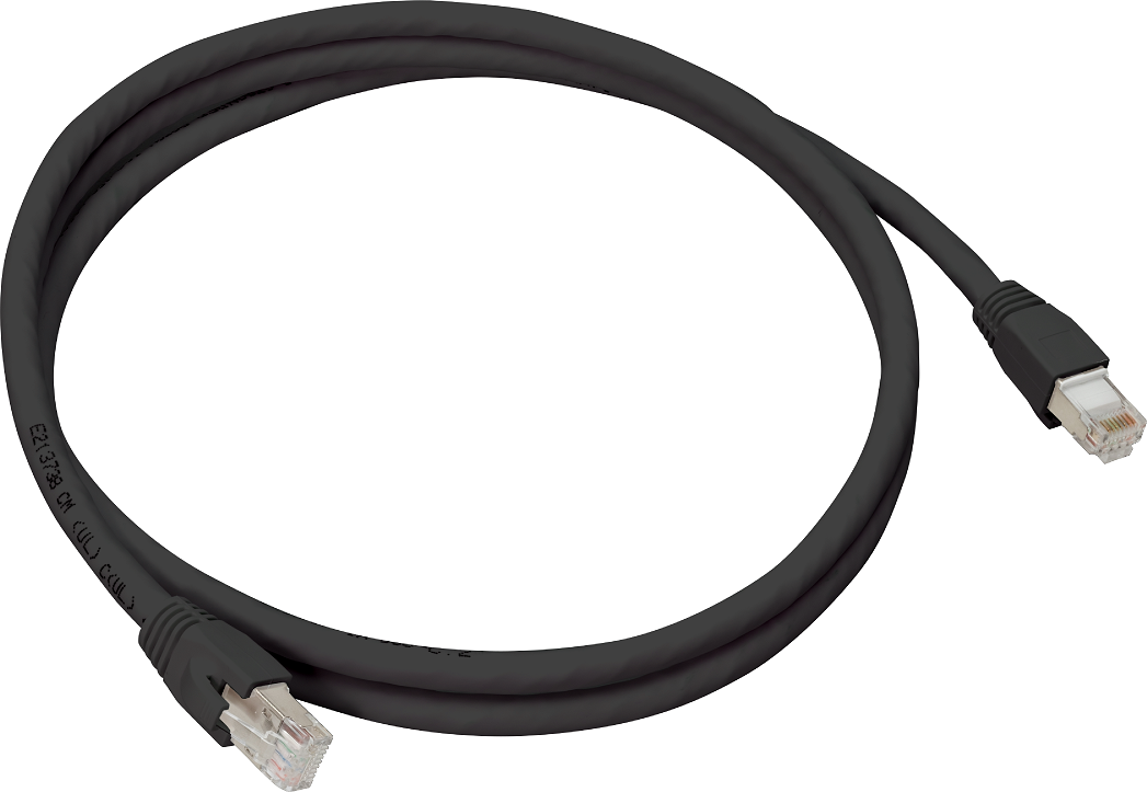 Cat6A Stp Patch Cable 25' Blk