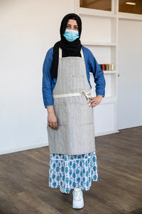 Apron | Hand printed | Made in Melbourne | Full Length