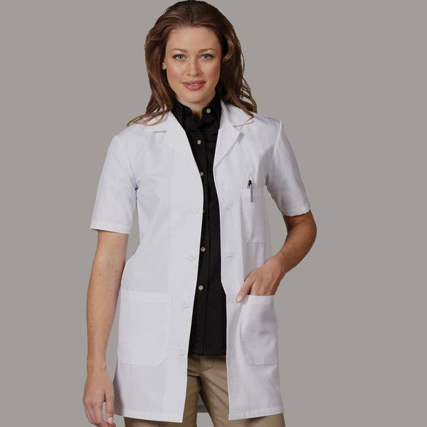 "Fashion Seal Short Sleeve 34"" Lab Coat"