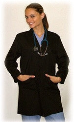 Green Scrubs Premium 3/4 Length Unisex Black Lab Coat