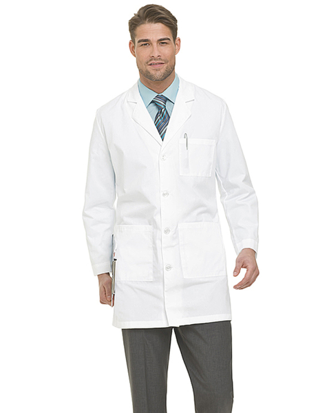 "Landau Men's 37"" Lab Coat"
