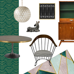 MCM Wire & Iron Chairs Style Board