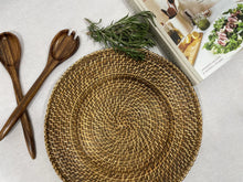 Load image into Gallery viewer, Set of 6 Wicker Chargers