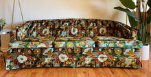 Load image into Gallery viewer, Vintage Velvet Floral Couch