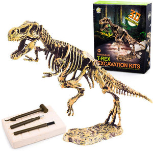 Jurassic Dinosaur Digging Kits , Dinosaur Fossil Toy, Excavation Kit, T-Rex Skeleton Puzzle, Education Archaeology Exquisite Toy Set Life Hack Inventions T-rex