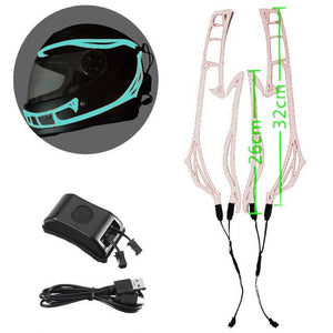 Helmet Cold Light EL Signal Flashing Stripe - Pattern C Life Hack Inventions Sky Blue