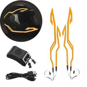 Helmet Cold Light EL Signal Flashing Stripe - Pattern B Life Hack Inventions Orange